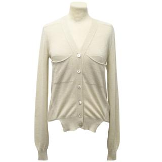 Stella McCartney Cashmere and Silk Blend Beige Cardigan