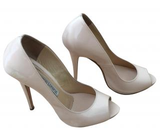 Gianmarco Lorenzi Peep Toe Patent Shoes