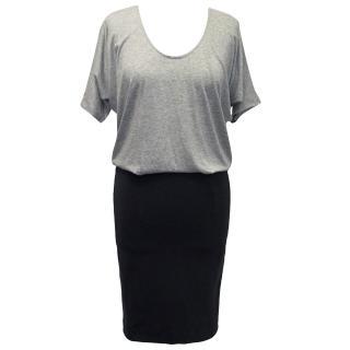 Bruuns Bazaar Grey and Dark blue Dress