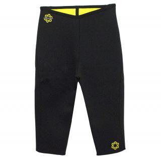 Zaggora Black Neoprene Blend Workout Cropped Trousers