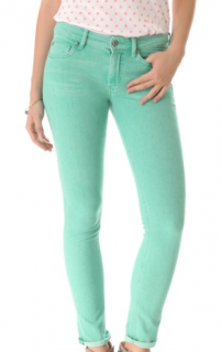 MiH Coloured Aqua Jeans