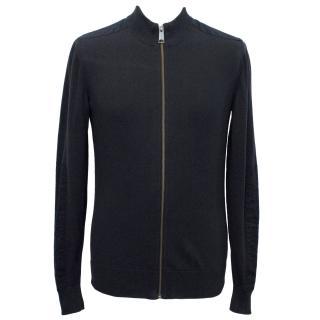 J.Lindeberg Navy Knit Zip Jacket