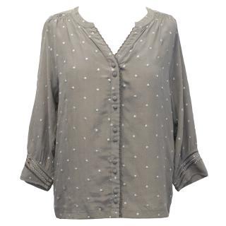 Pyrus Grey Silk Top