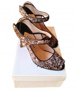Manolo Blahnik high heel peep toe shoes