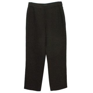 Donna Karan Black Linen Trousers