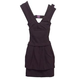 Preen Dark Purple Cocktail Dress