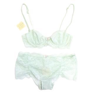 Myla Mint Green Bra and Panties
