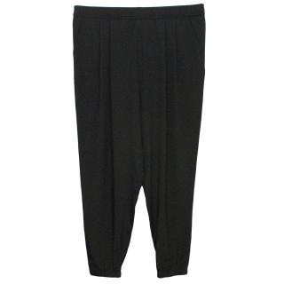 Tibi Black Silk Trousers