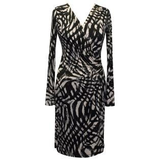 Ghost Jersey Black and Nude Dress