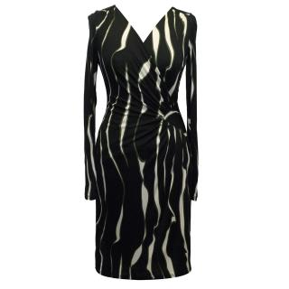 Ghost Black and White Jersey Dress