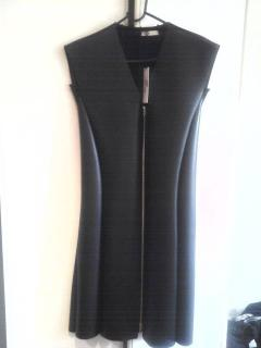 Celine black faux  leather dress