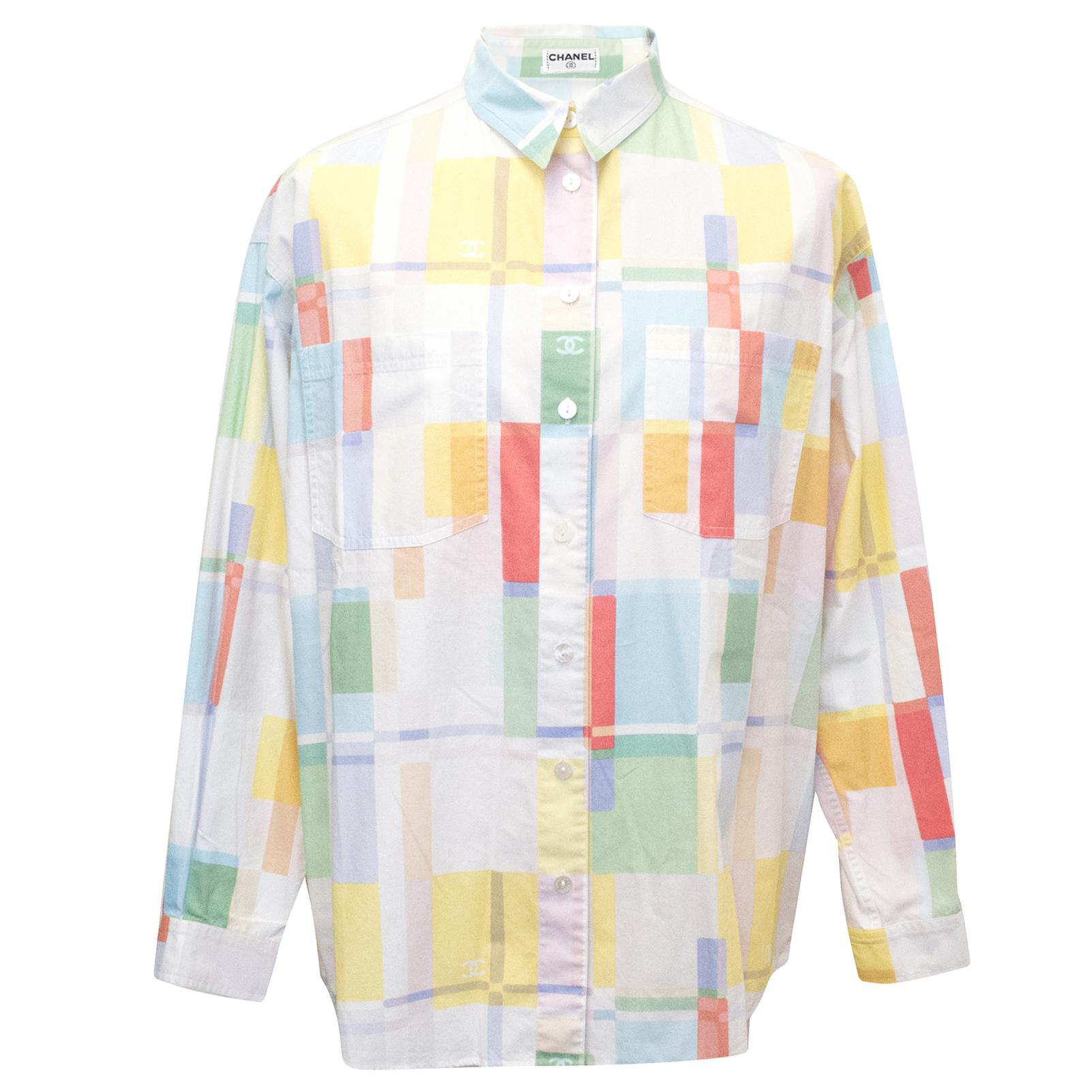 Chanel Geometric Printed Button Down Shirt