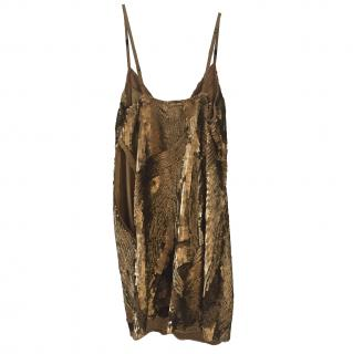 Tracy Reese Gold sequin dress