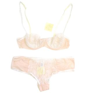 Myla Peach and Cream Bra and Briefs