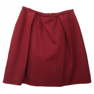 Carven Burgundy Skirt