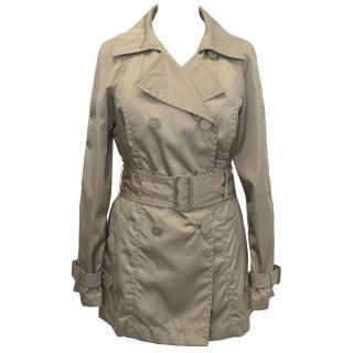 Prada Beige Double Breasted Tench Coat