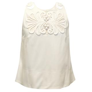 Chloe Cream Linen Blend Sleeveless Top