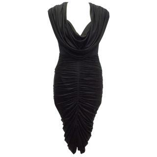 Zac Posen Black Drape Dress