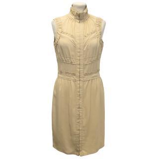 Yves Saint Laurent Beige Summer Silk Dress