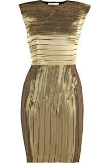 Roksanda Ilinic 'Sunrise' Lame Liquid Gold Stripe Dress