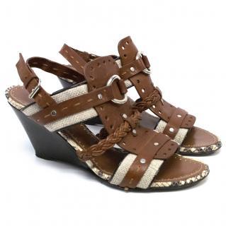 Proenza Schouler Gladiator Summer Wedge Sandals