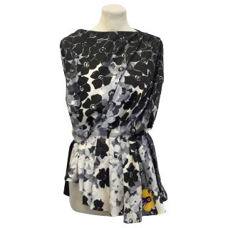Vionnet Flower Print Silk Top