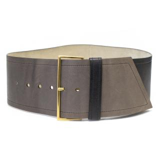 Prada Grey Ombre Leather Belt