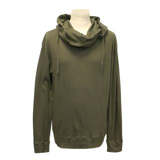 Richmond Denim Khaki Cowl Neck Hoodie