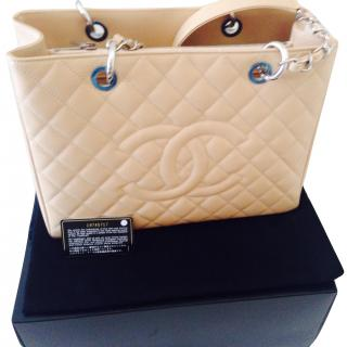 Chanel Large Beige Shopping Bag