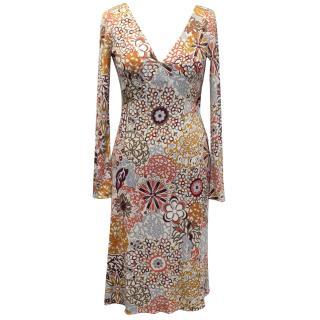 Emilio Pucci Silk Orange Printed Dress