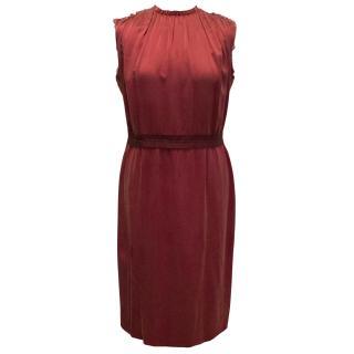 Lanvin Cerise Red Silk Dress