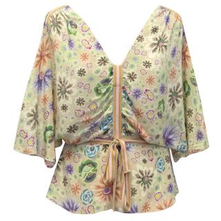 Missoni Flower Silk Top with Belt