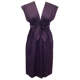 Derek Lam Purple Bow Tie Kimono Dress