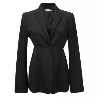 Jil Sander Tailor Fit Single Breasted Blazer with Patch Pockets