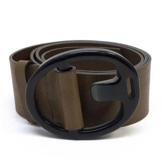 Marni Thick Brown Leather Belt