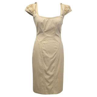 Zac Posen Nude Cream Dress