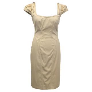 Zac Posen Nude Cream Dress