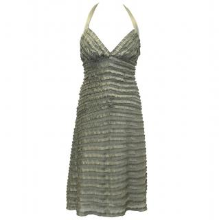 Temperley London Sage Green Silk Dress