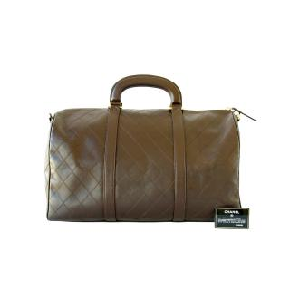 Chanel Brown leather luggage
