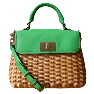 Kate Spade Green Wicker Bag