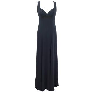 Celine Long Blue Silk Gown