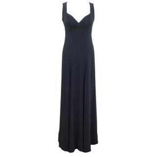 Celine Long Blue Silk Gown