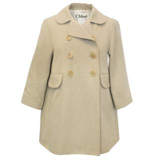 Chloe Double Breasted Cotton Blend Coat