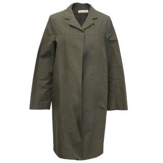 Marni Khaki Green Light Weight Coat