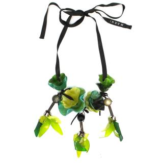Marni Green Floral Necklace