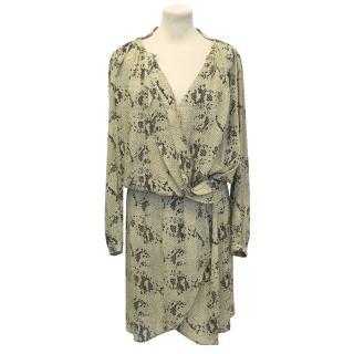 By Malene Birger Beige Snake Print Dress