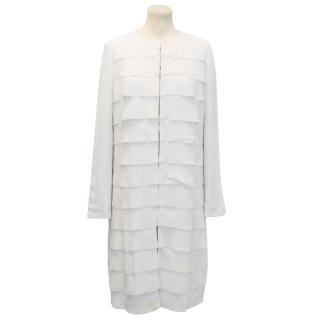 Rech Light Grey Silk Coat