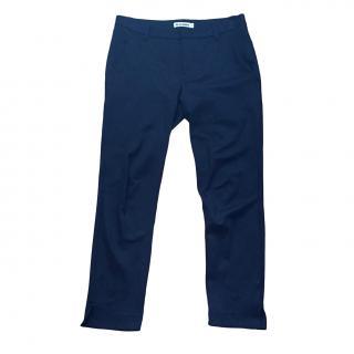 Jil Sander navy straight leg trousers
