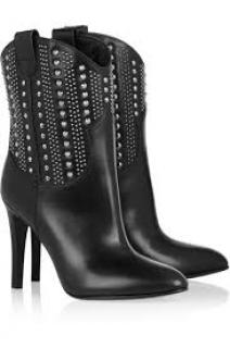 Saint Laurent Studded Western Boot
