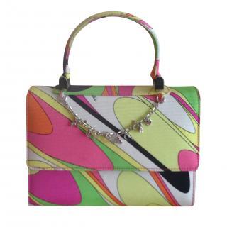 Emilio Pucci Handbag with Pucci Embellished Chain